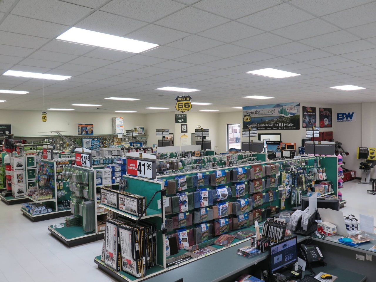 inside parts store