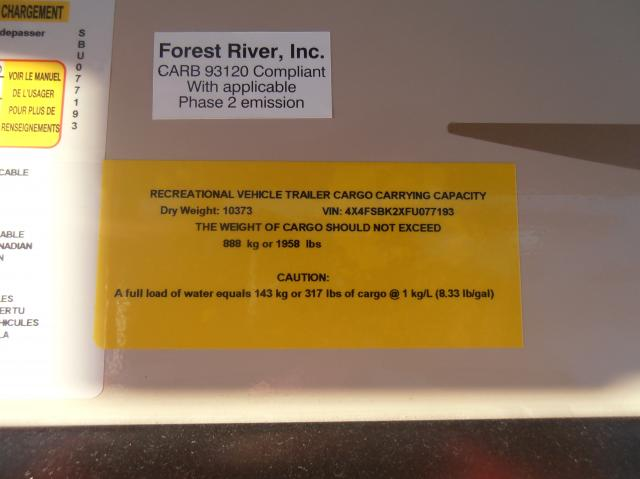 2015 Forest River Salem Hemisphere Lite 337BAR FW Stk #1771